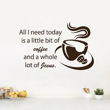Shop Love Coffee Wall Decals Quote Jesus Kitchen Cafe Coffee Cup Sticker Art Mural Dorm Decor Sticker Decal Size 33x39 Color Black Overstock 14284104