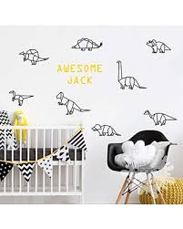 Spectacular Deals On Dinosaur Name Room Kidsroom Decal Nursery Decor Custom Name Sticker Personalized Wall Decal Origami Dinosaurs Gift