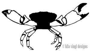Stone Crab Vinyl Sticker