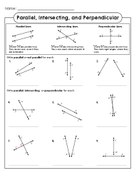 intersecting and perpendicular lines