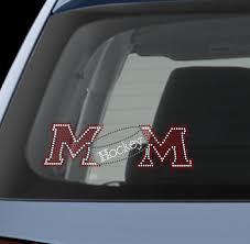 Hockey Mom Bling Custom Rhinestone Bedazzled Glam Window Decal