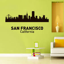 San Francisco Wall Decal California Skyline Landscape Etsy