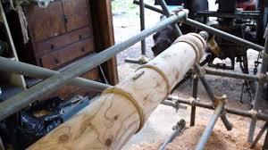zetor pto powered woodturning lathe