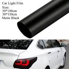 Matte Black Tint Film Headlights Tail Lights Car Vinyl Wrap Decals 30 150cm Aliexpress