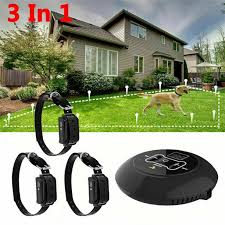 3 In 1 Wireless Electric Dog Pet Fence Containment System Transmitter Collar Waterproof 2 Dog System Walmart Com Walmart Com