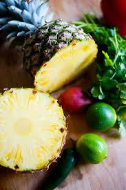 honey soy glaze and pineapple salsa