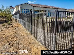 Snake Fence And Arizona Rattlesnake Prevention Fencing Installation Rattlesnake Solutions Llc Fence Installation Gate Decoration