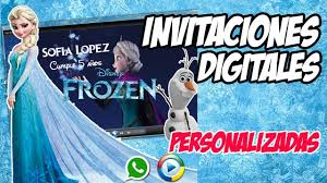 Invitaciones Digitales Cumpleanos Frozen Youtube