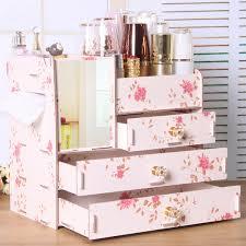 didihou wooden mirror makeup organizer