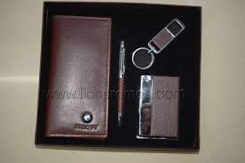 custom logo embossed leather gifts
