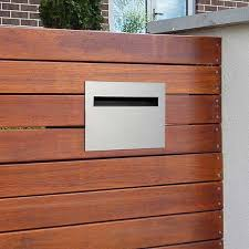Milkcan Letterbox Palazzo Fence Mount Wall Stainless Steel Mailbox Picket Fence In Home Garden Building Steel Mailbox Stainless Steel Mailbox Modern Mailbox