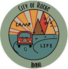 Amazon Com City Of Rocks Idaho Souvenir 2 Inch Vinyl Decal Sticker Camping Design Kitchen Dining