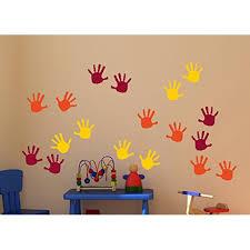 Handprint Vinyl Wall Decals Sticker Great For Classroom Daycares And Preschool Orange Yellow Red 18 Piece Walmart Com Walmart Com