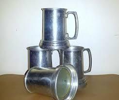 vintage aluminum glass bottom beer