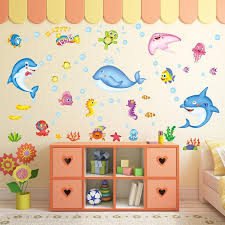 Zs Sticker Fish Wall Stickers Waterproof Home Decor Bathroom Wall Decal For Kids Room Dolphins Decor Wall Decals Uk Wall Decals Vinyl From Qiansuning8 59 46 Dhgate Com