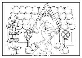 Olaf Frozen Kleurplaat Frozen Kleurplaten Kerstmis Kleurplaten