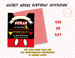 Invitaciones De Fiesta De Cumpleanos De Mickey Mouse Etsy