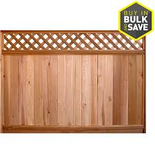 Severe Weather Common 6 Ft X 8 Ft Actual 5 7 Ft X 8 Ft Western Red Cedar Fence Panel In The Wood Fence Panels Department At Lowes Com