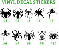 Spiders Vinyl Decal Sticker Car Window Art Tarantula Brown Recluse Black Widow 2 29 Picclick