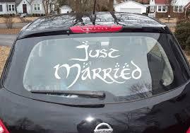 Just Married Vinyl Decal Just Married Vinyl Sticker Wedding Decal Wedding Decal Just Married Hobbit Wedding