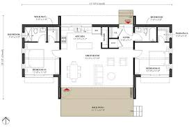 modern style house plan 2 beds 2