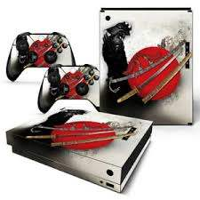 Xbox One X Console Skin Decal Sticker Anime Samurai 2 Controller Custom Design 743031186472 Ebay