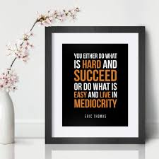 Eric Thomas Inspirational Wall Art Motivational Quote Art Etsy