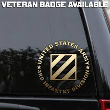 Army 3rd Infantry Division Decal Sticker Veteran Window Laptop Patch Rock Marne Laptop Decal Stickers Truck Window Stickers Vinyl Window Decals