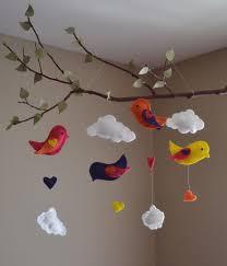 Love Birds Tree Mobile Kids Room Decor 새 모빌 공예 어린이를 위한 공예
