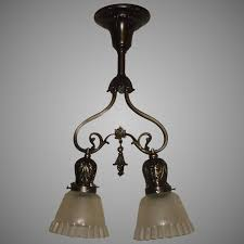 early electric 2 light pendant brass