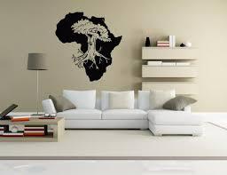 Wall Vinyl Sticker Room Decals Mural Design Africa Map Continent Baobab Bo1243 Ebay
