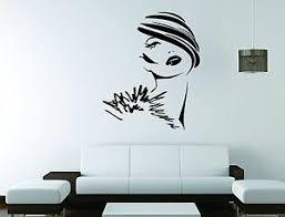 Girl Face Wall Mural Vinyl Decal Sticker Decor Beautiful Woman Salon Spa Fashion Ebay