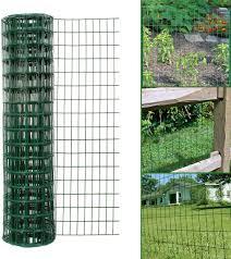 Simpa Multipurpose 1m X 10m Green Pvc Coated Galvanised Steel Wire Garden Fencing Roll Mesh Hole Spacing 10 16cm X 5 08cm Amazon Co Uk Garden Outdoors