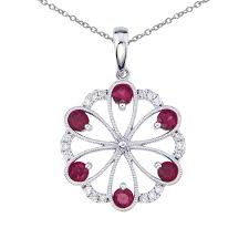 color merchants 14k white gold ruby and