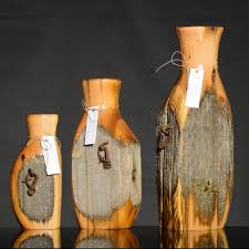Recycled Cedar Fence Post Vases Fence Post Crafts Cedar Fence Posts Fence Post