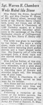 Obituary: marriage Mabel Ida Stone - Newspapers.com
