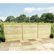 5ft 1 52m Horizontal Pressure Treated 12mm Tongue Groove Fence Panel 1 Panel Only Min Order 3 Panels Free Delivery