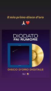 """Fai rumore"""": Diodato festeggia il suo primo Disco d'Oro - News ..."""