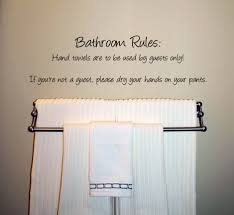 Humorous Bathroom Rules Wall Decal Trading Phrases