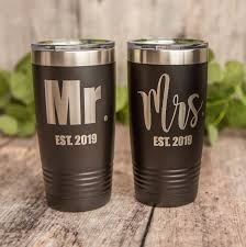 Mr And Mrs Established Tumbler Set Engraved Stainless Steel Tumbler Stainless Cup Wedding Gift 3c Etching Ltd