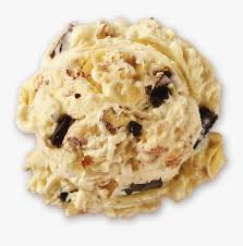 banana chocolate chunk ice cream scoop