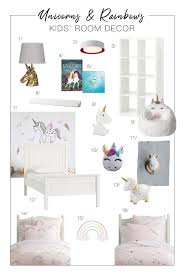 Unicorns Rainbows Cute Kids Bedroom Decor Ideas The Mom Edit