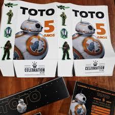 Bb8 Star Wars Kit Impreso Cumple Candybar Partybox 12 Invit