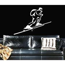 Shop Snowboard Sport Skiing Snow Ski Run Wall Art Sticker Decal White Overstock 11746242