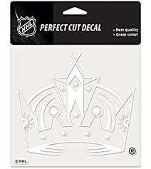 Amazon Com Wincraft Nhl Los Angeles Kings Perfect Cut Decal Set Of 2 4 X 4 Sports Fan Decals Sports Outdoors