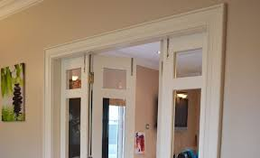 painted hardwood bi folding doors