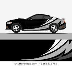 Car Wrap Modern Abstract Vector Design Stock Vektorgrafik Lizenzfrei 1511600987 Di 2020 Gambar