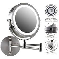 lighted magnifying makeup mirror