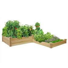 Greenes Fence 4 Ft X 12 Ft Stair Step Original Cedar Raised Garden Bed Rc2t10s31b The Home Depot In 2020 Raised Garden Cedar Raised Garden Beds Cedar Raised Garden