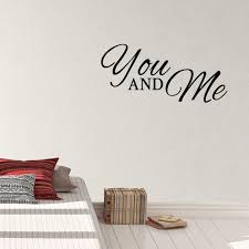 You And Me Vinyl Wall Decal Bedroom Sticker Quote Newlywed Art Etsy